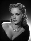 Anne Francis Close Up Portrait with Silver Necklace and Earrings