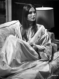 Deborah Raffin Lying on a Couch wearing Robe