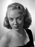 Audrey Totter with Black Top in Black and White Portrait