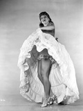 Dinah Shore Dancing in Black and White