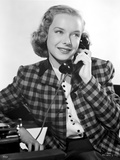 Diana Lynn on a Printed Blazer on Phone