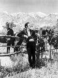 Cesar Romero Portrait in Black and White