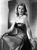Barbara Bel-Geddes on a Silk Tube Dress sitting
