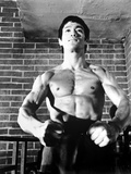 Bruce Lee in Topless and Flexing