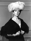 Deborah Kerr on a Furry Hat and posed
