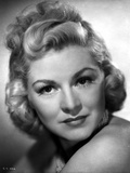 Claire Trevor Portrait in Classic with Curly Blonde Hair
