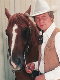 David Soul posed with Horse Portrait