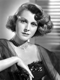 Frances Dee posed in a Portrait in Black and White