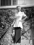 Carole Landis posed and smiling