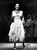 Ethel Merman standing in Dress