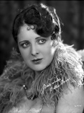 Billie Dove wearing Feather Dress Portrait