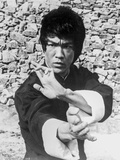 Bruce Lee Hands Posed in Kung Fu Action