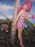 Betty Hutton Posed Pink Dress