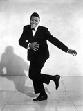 Chubby Checker Dancing in Black Suit with Black Shoes