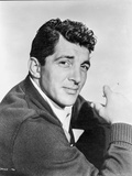 Dean Martin and Jerry Lewis Posed in Black Sweater and White Collar