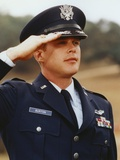 Cary Elwes in Army Uniform and Saluting