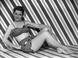 Barbara Rush Reclining in Classic