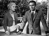 Christopher Plummer Talking in Suit With Woman