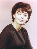 Barbara Steele Close-up Portrait in Black Blouse