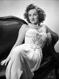 Constance Moore on a Tube Dress sitting and Slightly sitting