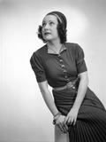 Ethel Merman Looking Up in Classic Dress