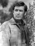 Fess Parker Leaning in Leather Jacket