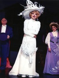 Carol Channing Posed in White Dress