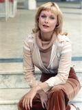 Carol Lynley wearing a Brown Attire