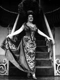 Ethel Merman standing in Long Dress