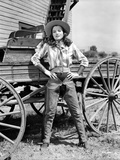 Ella Raines on a Cowboy Attire and Hands on Waist