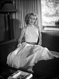Dolores Moran on a Dress sitting Portrait
