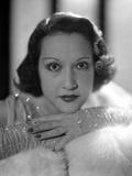 Ethel Merman Portrait in Shimmering Dress