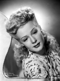 Betty Hutton on Printed Dress Portrait