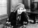 Greta Garbo Leaning and Drinking at the Bar
