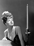 Claire Trevor Looking Up in Black Lingerie Classic Portrait