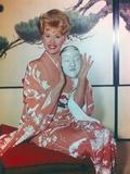 Connie Stevens Posed in Kimono Portrait