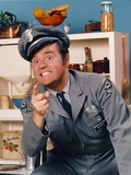 Dom Deluise Pointing in Police Uniform