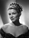 Claire Trevor Posed in Black Dress Portrait