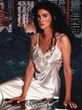 Connie Selleca in White Sleeping Robe Portrait