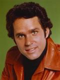 Gregory Harrison wearing Brown Leather Jacket Portrait