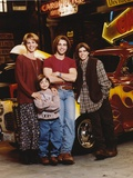 Brotherly Love Cast Posed with Vehicles