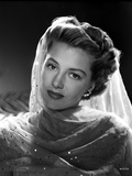 Cyd Charisse Posed in Net Dress with Veil Portrait