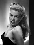 Claire Trevor Posed Sideways in Black Strapless Dress