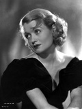 Constance Bennett on Off Shoulder Dress sitting Portrait
