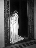 Colleen moore on a Gown and Sneaking Portrait