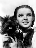 Dorothy Gale Holding Toto Wizard of Oz - Photograph Black & White