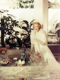 Greer Garson in a White Gown Portrait