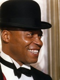 James Jones Close Up Portrait in Black Suit and Black Bow Tie with Velvet Bowler Hat