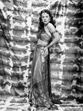 Hedy Lamarr Posed on Side view in Long Skirt
