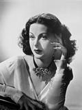 Hedy Lamarr wearing a Necklace Choker